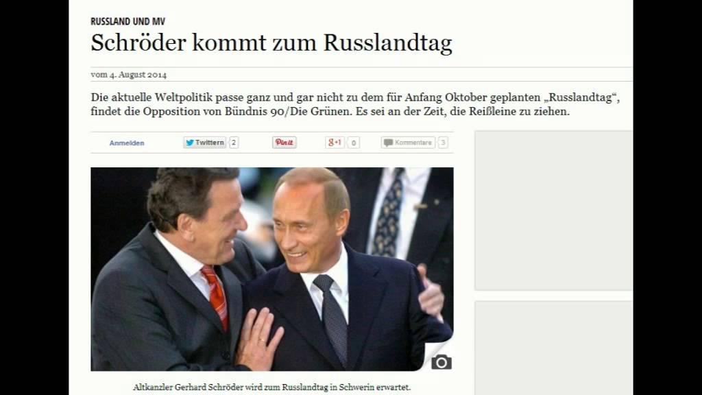 Schröder beim Russlandtag Mecklenburg-Vorpommern ll Im Land der Putin-Versteher