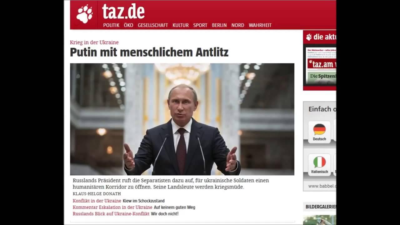 Antirussische Berichterstattung der deutschen Presse ll 29 August 2014