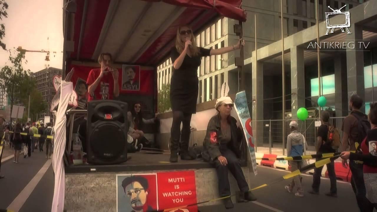 Freiheit statt Angst ll Berlin gegen Krieg ll Protect Whistleblowers ll Demo 30.8.14