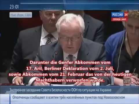 """Vertreter Russlands vor der UNO ll """"Eskalation der Lage in der Ukraine"""""""