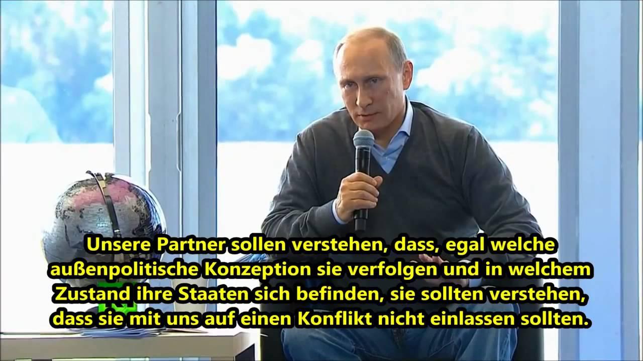 Wladimir Putin: Russland will keinen Konflikt sondern Sicherheit