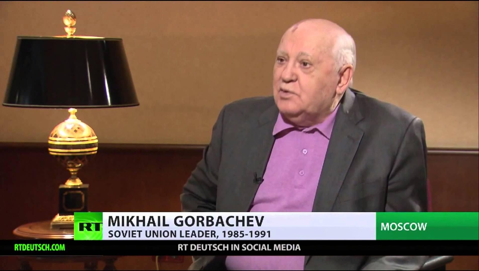 Vorschau auf RT Exklusiv-Interview mit Michael Gorbatschow am 19.12.