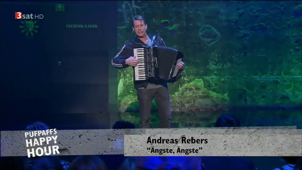 "Andreas Rebers: ""Ängste, Ängste"" 25.01.2015 Pufpaffs Happy Hour – Bananenrepublik"