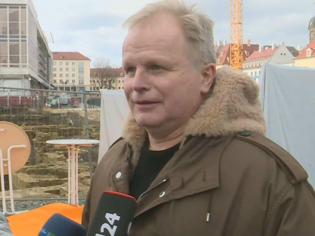 Herbert Grönemeyer vor dem Bürgerfest gegen Pegida in Dresden (26.01.2015)