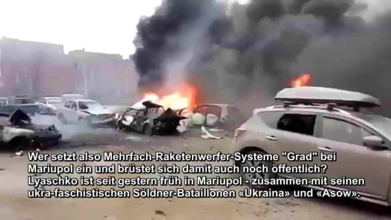 Hinweise auf Provokation durch Kiew in Mariupol 26.1.14