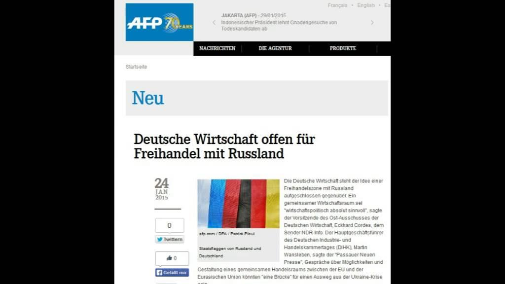 NATO will Konflikt mit Russland- Deutsche Wirtschaft für Freihandelszone
