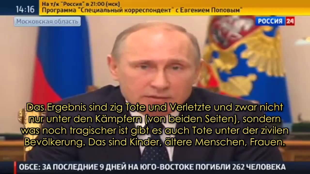 Präsident Putin verurteilt Grossoffensive Kiews auf schärfste 23.1.15