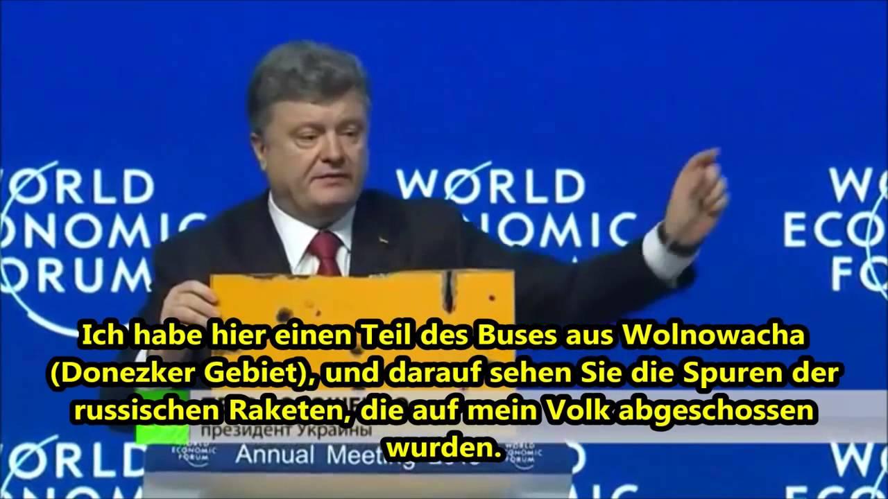Ukrainischer Präsident Poroschenko beim Weltwirtschaftsforum Davos