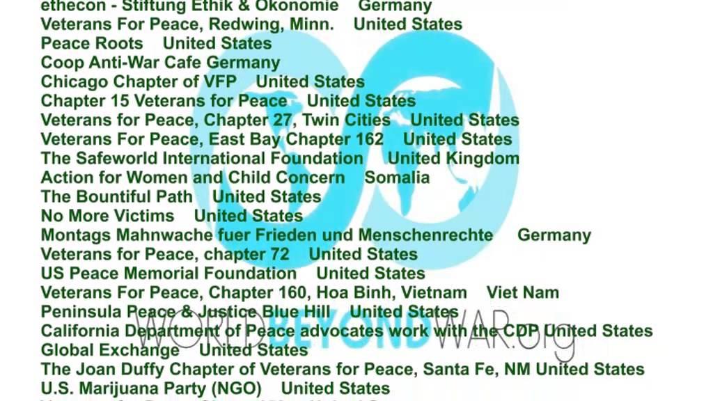 """World Beyond War – Internationale Initiative """"Eine Welt jenseits des Krieges"""""""