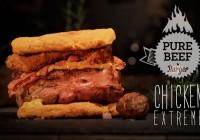 Pure Beef Burger Chicken Extreme
