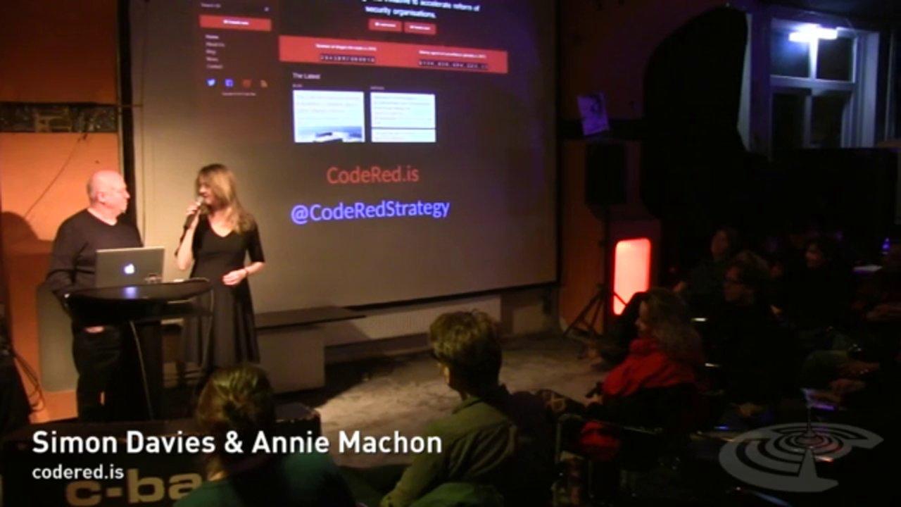 CODE RED: Annie Machon and Simon Davies (C-Base Berlin 20.04.2015)