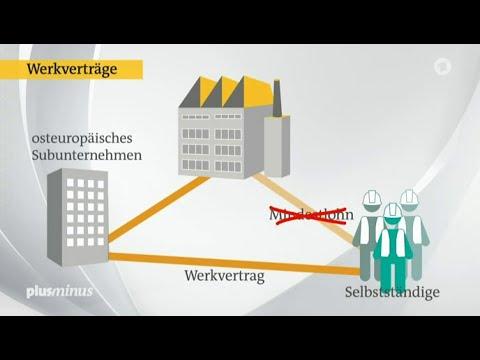 Der Mindestlohn und die Werkverträge – Plusminus 22.04.2015 – Bananenrepublik