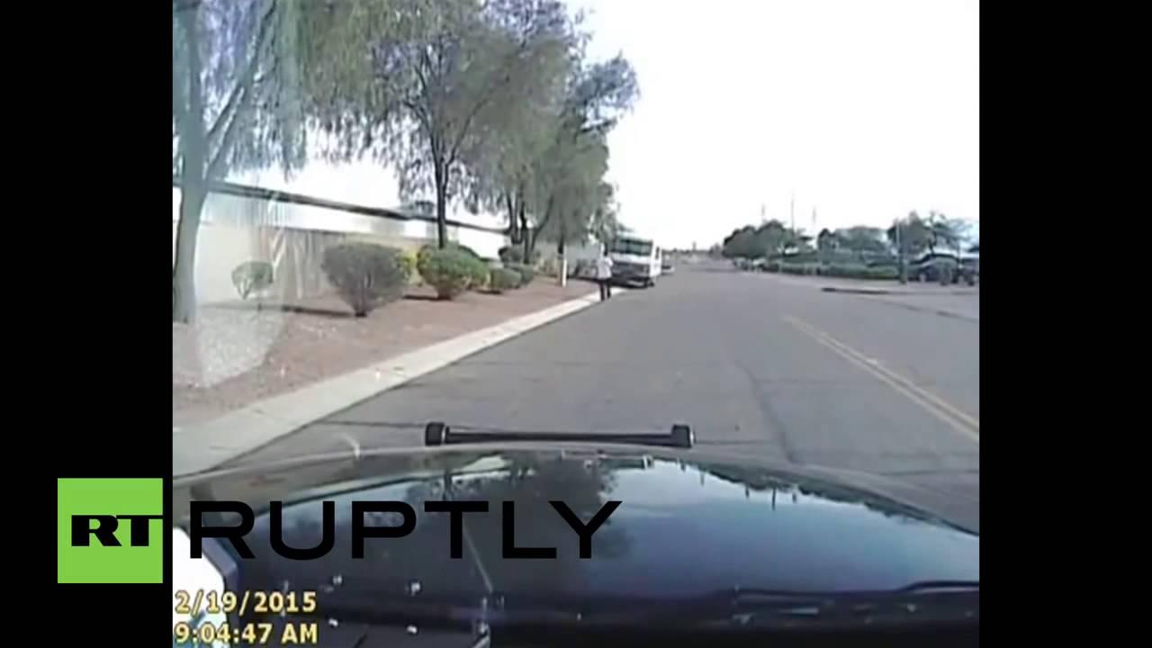 """Nächster Polizeiskandal: Video eines """"Räuberfangs"""" in den USA – Gas geben und umnieten"""