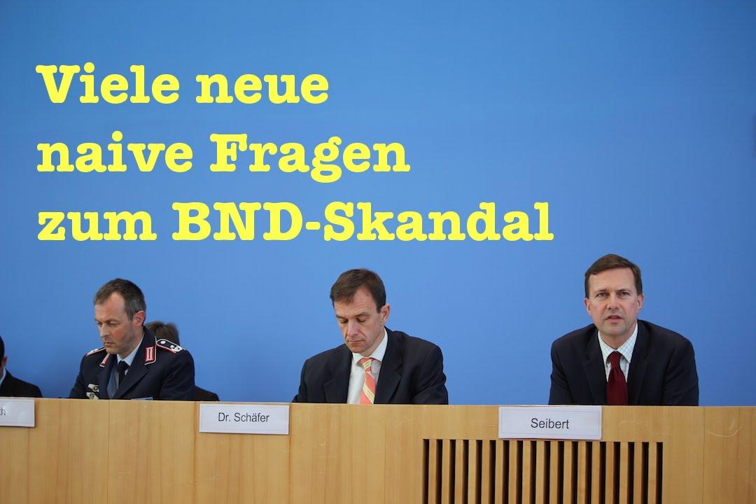 Viele neue Fragen zum BND-Skandal, Mare Nostrum & Gauck