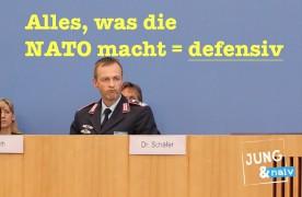 Bundesregierung: NATO-Maßnahmen sind immer defensiv