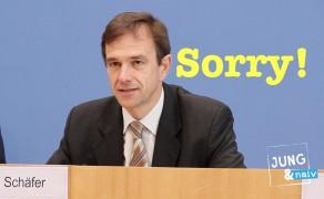 """Die Bundesregierung versucht """"Sorry"""" zu sagen"""