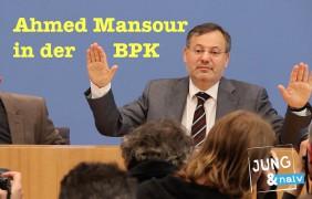Nach der Freilassung: Ahmed Mansour in der Bundespressekonferenz