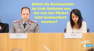 Bundeswehrhilfe im Irak: Durch Unterschrift ist alles geregelt!