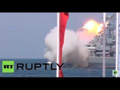 Flottenparade in Sewastopol: Rakete gerät außer Kontrolle und explodiert