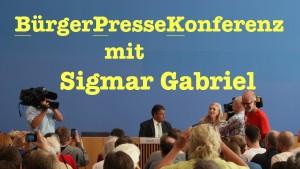 BürgerPresseKonferenz mit Sigmar Gabriel – Tag der offenen Tür in der BPK