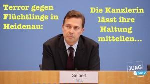 Terror in Heidenau: Die Kanzlerin lässt ihre Haltung mitteilen