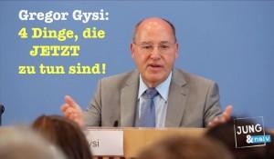 Gregor Gysi: 4 Dinge, die JETZT zu tun sind