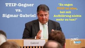 TTIP-Gegner vs. Sigmar Gabriel