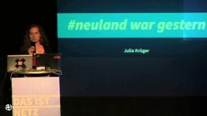 "#11np: Julia Krüger über ""#neuland war gestern"""