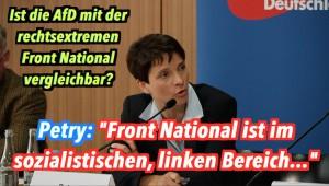 """AfD-Chefin grenzt sich von Front National ab: """"Die sind links & sozialistisch"""""""