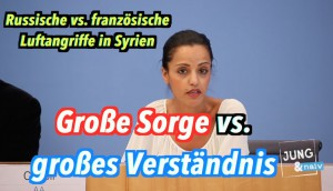 Große Sorge vs. großes Verständnis: Russische vs. französische Luftangriffe