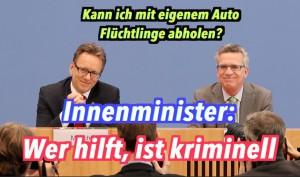 Innenminister: Wer Flüchtlinge nach Deutschland bringt, ist kriminell