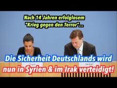 Deutschlands Sicherheit wird nun in Syrien & im Irak verteidigt!