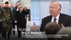 KenFM am Telefon: Willy Wimmer zur Entsendung deutscher Truppen nach Syrien