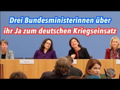 Warum drei Bundesministerinnen heute Ja zum Krieg gesagt haben