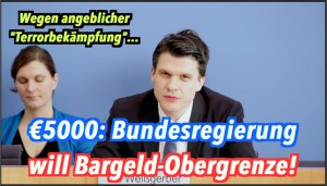 5000 Euro: Bundesregierung plant Bargeld-Obergrenze