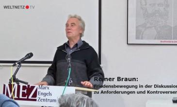 Reiner Braun: Friedensbewegung in der Diskussion – zu Anforderungen und Kontroversen