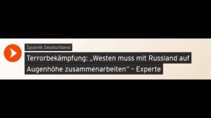 Terrorbekämpfung: Mit Russland zusammenarbeiten – Klaus Hartmann  (Deutscher Freidenker-Verband)