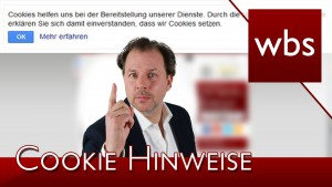 Warum poppen auf vielen Webseiten Cookie-Hinweise auf? | Rechtsanwalt Christian Solmecke