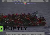 Mittelmeer: Boot mit 550 Flüchtlingen an Bord kentert – Mindestens fünf ertrinken