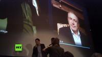 """Liveschalte mit Chodorkowskis zur Vorpremiere von """"Citizen Chodorkowski"""""""