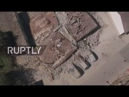 Live: Drohne filmt Verwüstung in Amatrice nach tödlichem Erdbeben