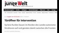 Syriens Kurden als Türöffner für Intervention durch die Türkei (Tageszeitung junge Welt)