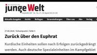 Türkische Armee in Syrien: Kurdische Einheiten über den Euphrat zurückgedrängt werden (junge Welt)