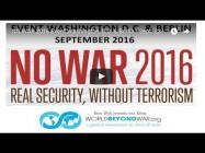 Berlin #NoWar2016: Vigil against Militarism – US-Embassy Sept. 26 – Mahnwache gegen Militarismus