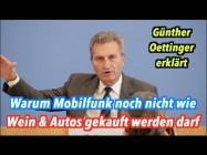 Oettinger: Für Marktwirtschaft auf dem EU-Mobilfunkmarkt ist es noch zu früh!