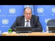 Pressekonferenz von Sergej Lawrow nach seiner Rede vor der UN-Vollversammlung