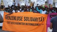 Proteste der Geflüchteten am Sendlinger Tor in München