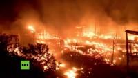 Massiver Brand im sogenannten Dschungel von Calais ausgebrochen