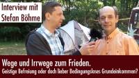 Stefan Böhme im Gespräch – Wege und Irrwege zum Frieden