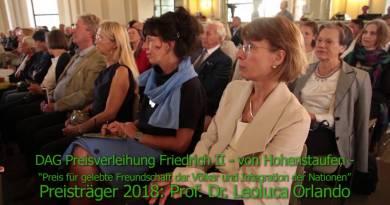 Friedrich II Preis f. gelebte Freundschaft d. Völker an Leoluca Orlando – Rede Michael Lüders